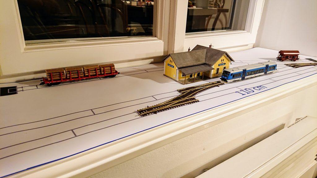 Stanice Malá Paka na plánu
