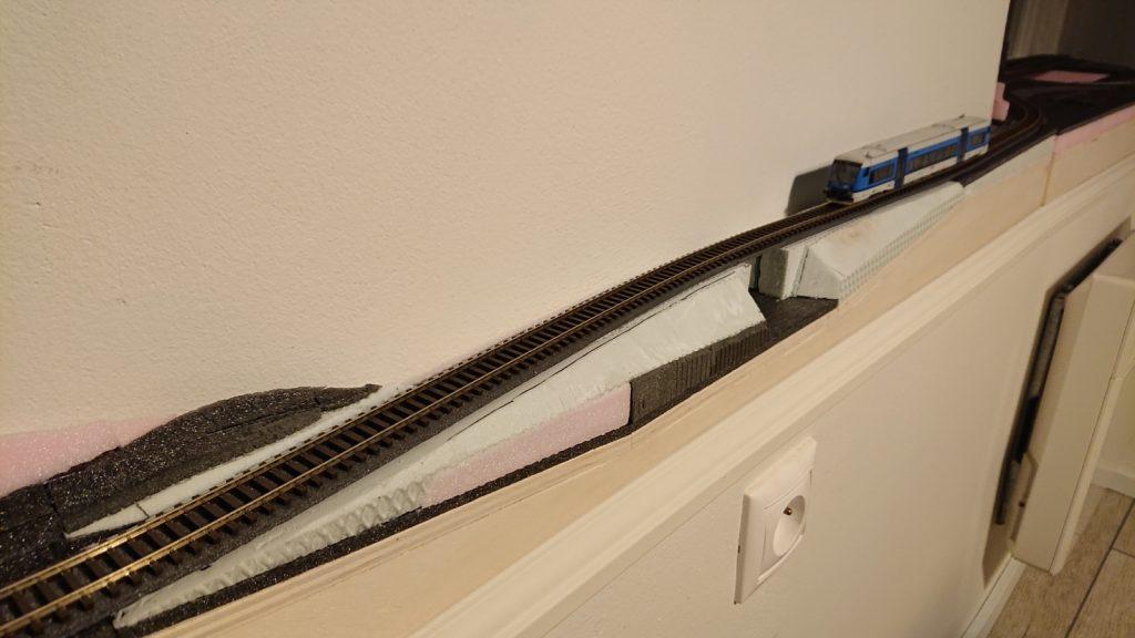 Střední segment s vlakem